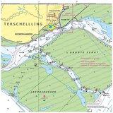Waterkaart Terschelling| Kussen met vulling_