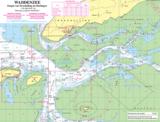 Waterkaart Terschelling  | Fleecedeken _