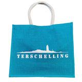 Strandtas Terschelling  | Turquoise_
