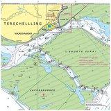 Waterkaart Terschelling | Kussen zonder vulling_