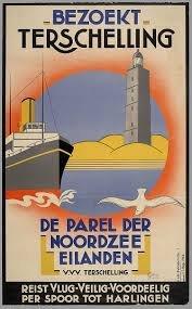 Poster 'Bezoekt Terschelling'