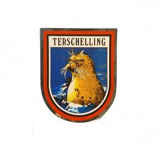Sticker  vaandel met Zeehond