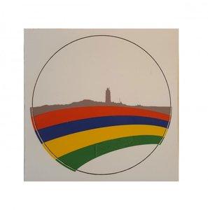 Ronde sticker Skyline Terschelling