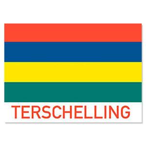 Sticker vlag met TERSCHELLING