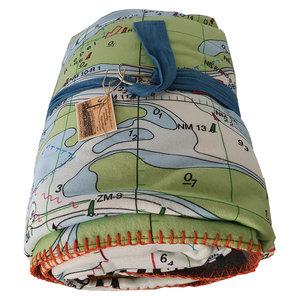 Waterkaart fleece deken Terschelling