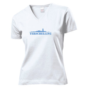 T-shirt Terschelling dames | Wit
