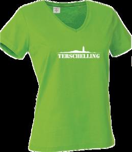 Shirt Terschelling Groen (Dames)
