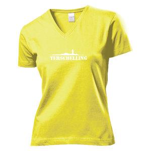 T-shirt Terschelling dames | Geel