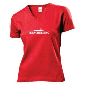 Shirt Terschelling Rood (Dames)