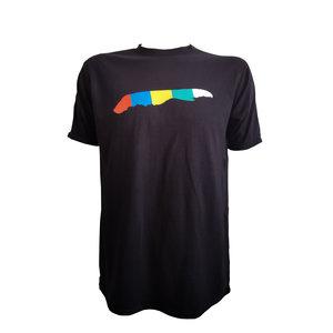 T-shirt  eiland vlag   Zwart
