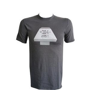 Heren T-shirt  Paddenstoel West A/Zee & Midsland antraciet