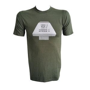 Heren T-shirt paddenstoel Groenestrand en Formerum in leger groen