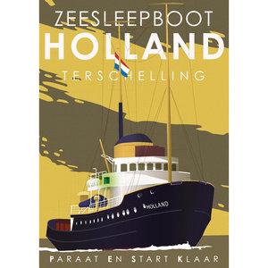 VVV Poster   Zeesleepboot Holland