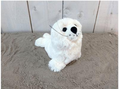 Knuffel zeehond wit groot