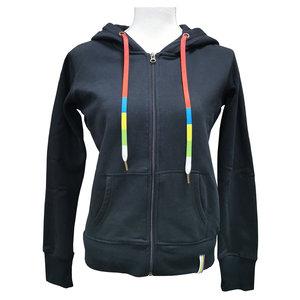 Vest zip | Dames zwart