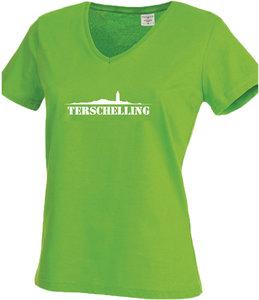 T-shirt Terschelling dames | Groen