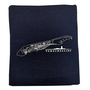 Zachte deken Terschelling  | Navy blue