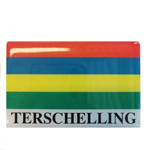 Magneet | Vlag Terschelling met tekst